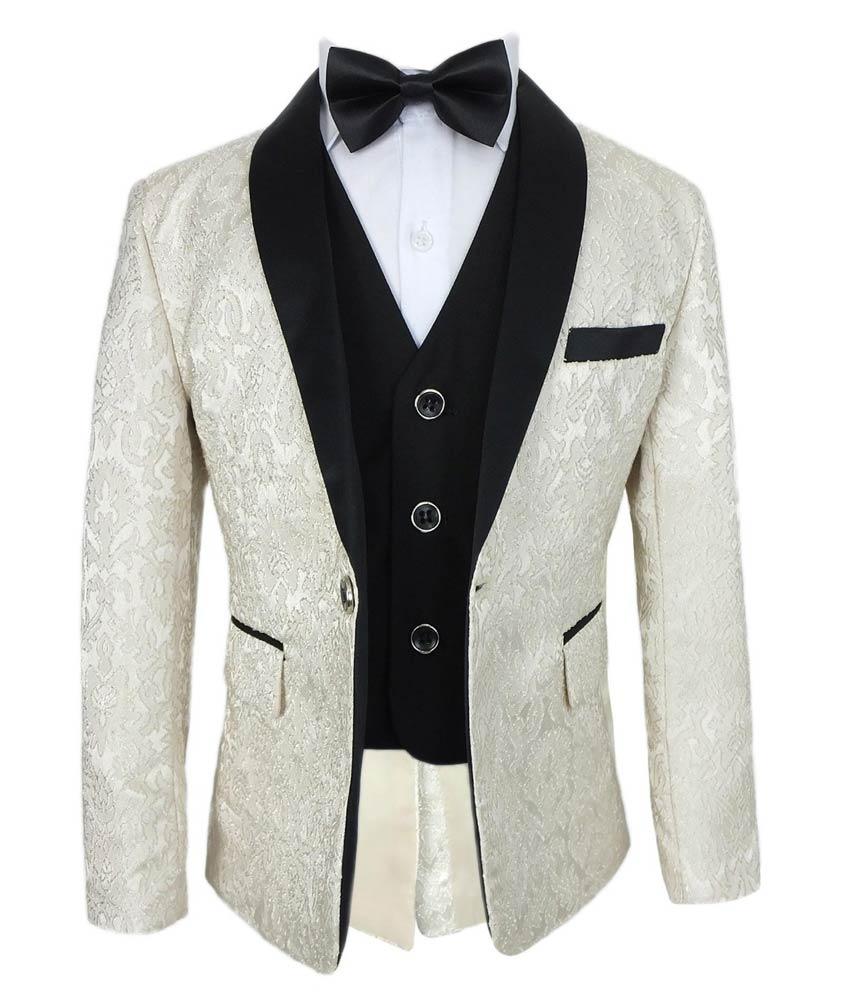 Jungen Komplettes Anzug Set Mit Stickerei Stil In Creme Abendgarderobe Fur Jungen Sirri 2021