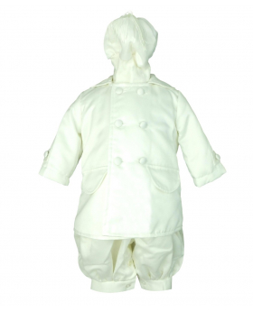 Couche Tot Baby Boys ivory Jumpsuit 3 Piece Christening Baptism Outfit