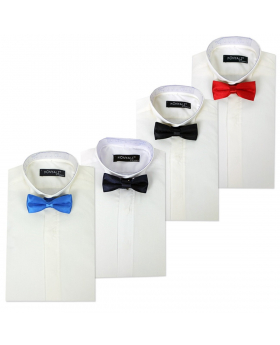 Page boys Wing Collar Ivory Shirt with Bow Tie