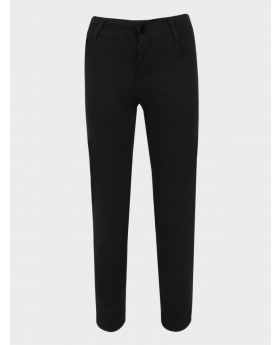 Boys Black Casual Stretch Chino Pant front picture