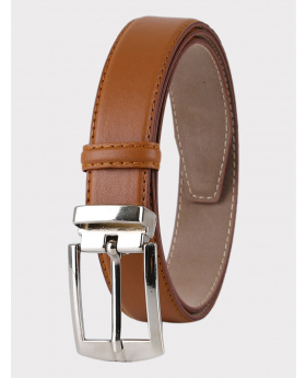 Boys Faux Leather Tan Belt front picture