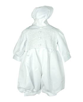 Couche Tot Baby Boys White Jumpsuit 3 Piece Christening Baptism Outfit